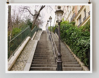 "Paris Photography, ""Montmartre Steps"" Paris Print, Large Art Print Fine Art Photography"