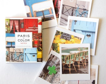 Paris in Color Note Card Set, Paris Greeting Cards Set, Blank Note cards, Hostess Gifts
