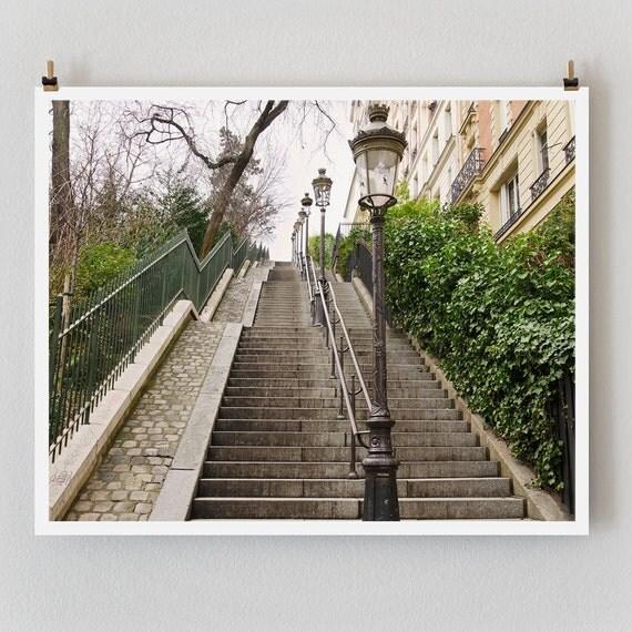 """SALE! Paris Photography, """"Montmartre Steps"""" Paris Print, Large Art Print Fine Art Photography"""