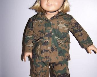 Army camoflage uniform fits American girl dolls