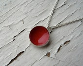 poppy dot necklace
