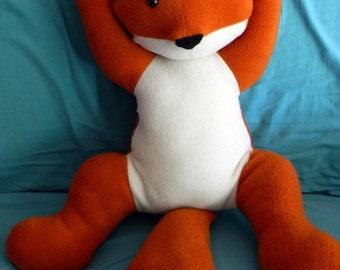 Stuffed Fox Cuddle Floppy Plushie