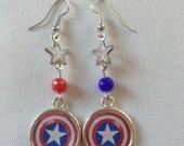 """Elegant """"Captain America"""" Earrings"""