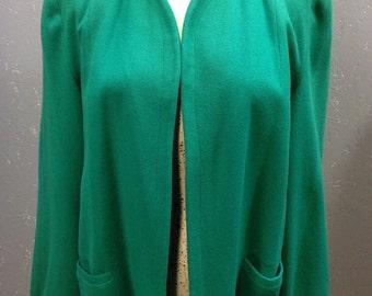 40's kelly green swing coat. Wool. Medium.