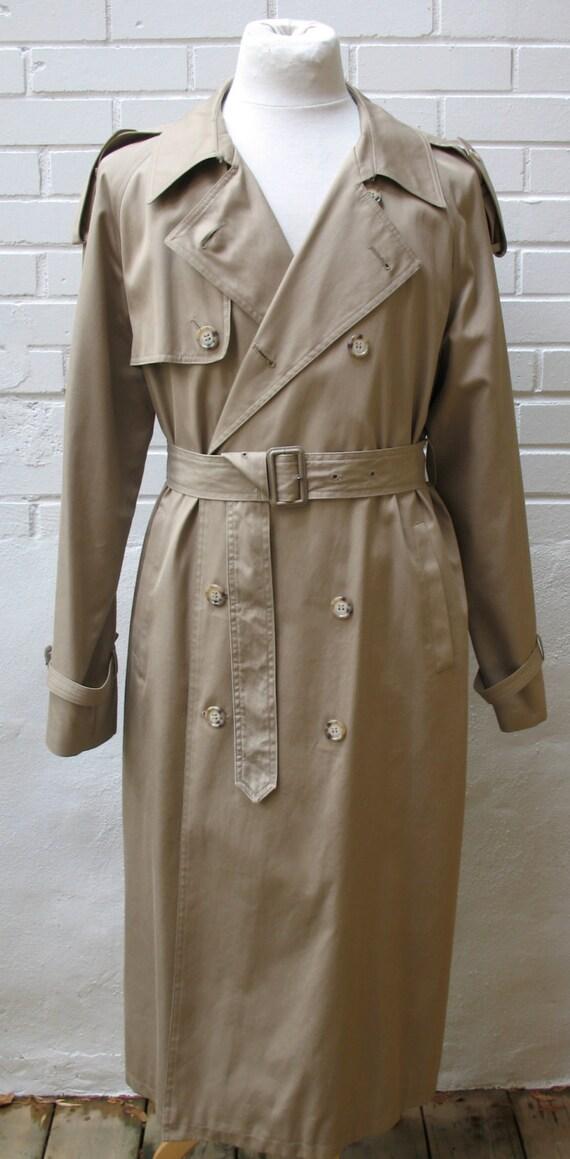 Vintage Yves Saint Laurent Ysl Mens Trench Coat 42 Tall Tan