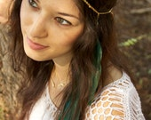 CHAIN HEADPIECE- head chain headdress feather headpiece with crystals