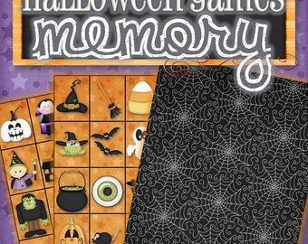 Printable Halloween Memory Game - INSTANT DOWNLOAD