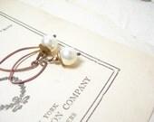 Sale, Crystal pearl earrings brass swarovski june birthday feminine fashion pamelasjewelry