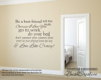 """Wall Decals Love Like Crazy Country Song Lyrics 006- 32"""""""