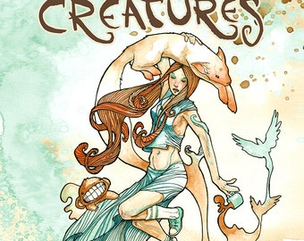 Coffee Creatures Art Book - The Coffee and Watercolor Paintings of Cody Vrosh - Coffee Table Book