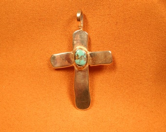 STERLING and SILVER CRUCIFIX