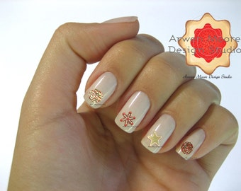 Funky Fun Holiday Xmas Baked Cookies Collection Nail Art Waterslide Water Minitures Decals - fx_001