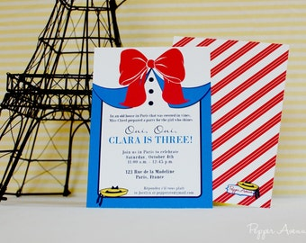 Madeline Birthday Party / Paris Birthday Party Invitation - DIY Print-at-home PDF File