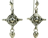 Ancient Roman Authentic Reproduction Sterling Silver Pendant Earrings