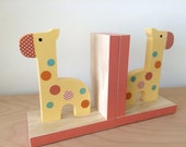 Giraffe Bookends, Safari Nursery, Safari Kids Decor, Jungle Nursery, eco friendly