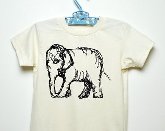 Organic Elephant Kid's Tee - Short Sleeve