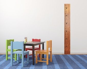Ruler wall decal, growth chart decal  DB317