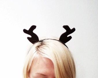Deer Antlers Headband, Reindeer Headband