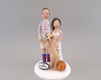 Custom Bride & Groom Wedding Cake Topper