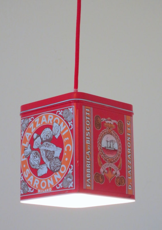 Biscotti tin plug in pendant light