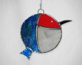 Chibi Hummingbird Stained Glass Suncatcher  -  FREE Shipping in the USA