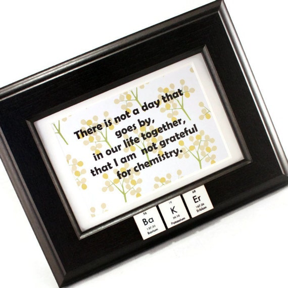 Geek Anniversary Chemistry Picture Frame Black