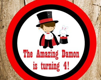 Magic Show Party - Custom Magician Party Sign by The Birthday House
