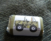 24 Camo Jeep  Miniature Candy Wrapper Mini  Army personalized custom label