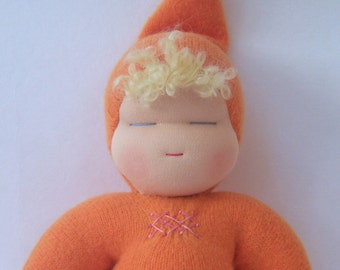 Sweetheart Baby - Waldorf Doll - Tangerine