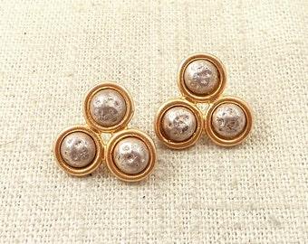 "SALE --- Vintage Antioch Goldwashed Sterling ""Walking on The Moon"" Earrings"