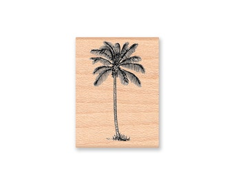 TROPICAL PALM TREE -Coconut Tree- two sizes - small and large-Wood Mounted Rubber Stamp(large 42-18)(small 31-01)