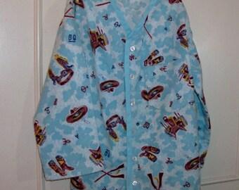 Boys' Flannel Cowboy Shirt