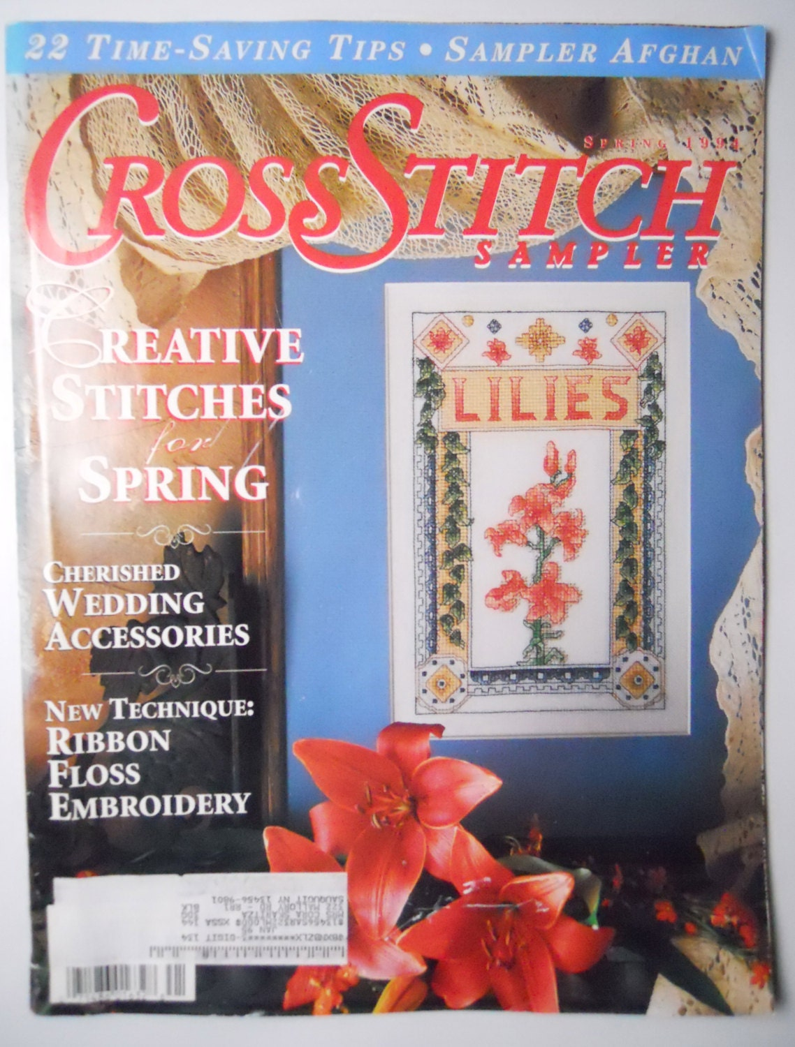 Cross stitch sampler magazine spring patterns wedding for Country living magazine cross stitch