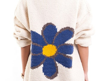 The Vintage Beige Oversized Ms. Daisy Wool Sweater