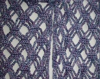 Pattern - Stacked Diamonds Crochet Scarf