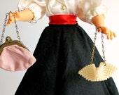 Vintage Doll Purse Set Midcentury
