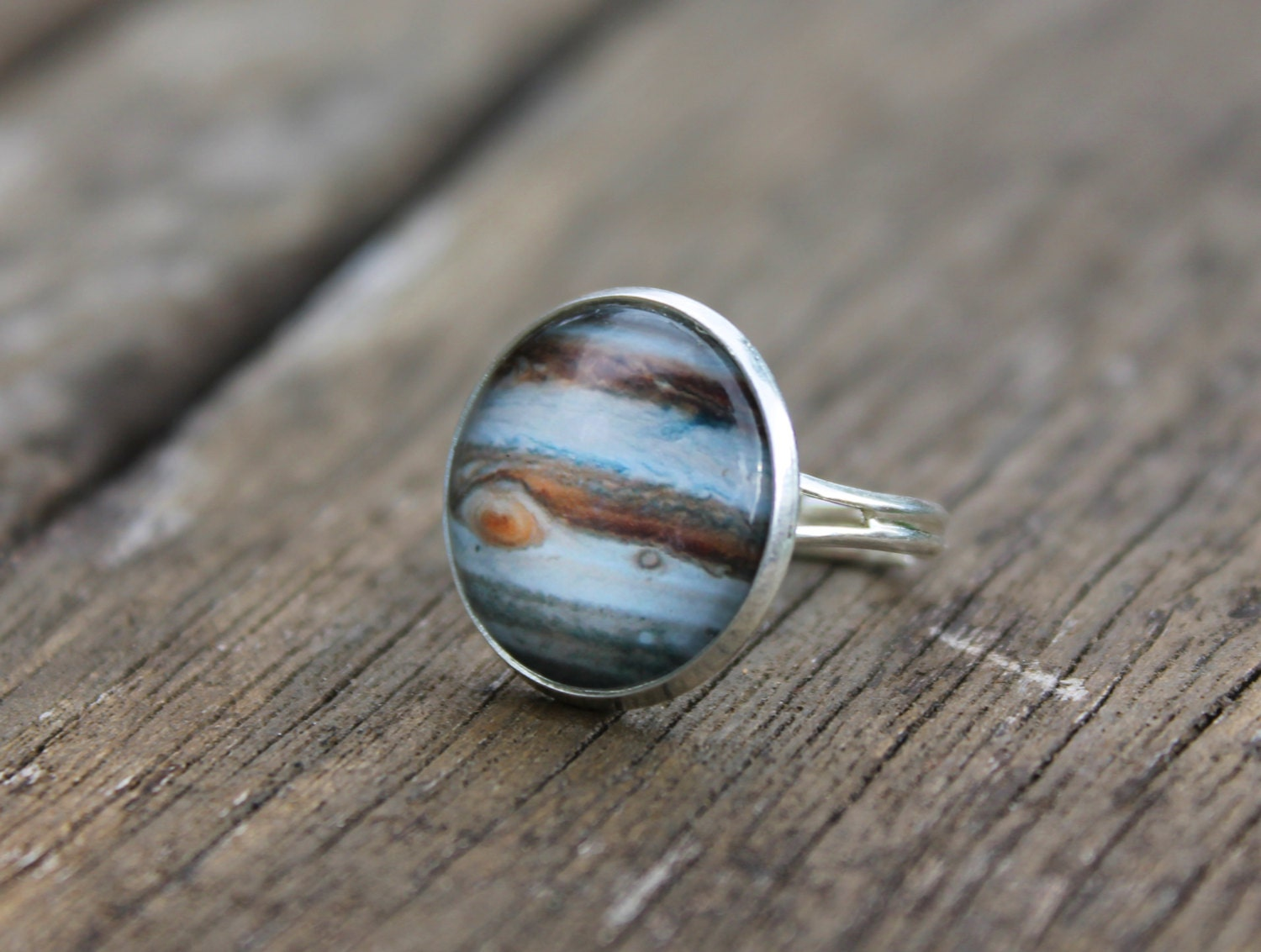 Jupiter Planet Ring Glass Dome solar system universe Ring