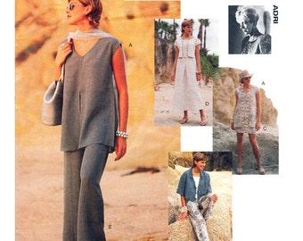 Womens Sewing Pattern Vogue 1592 Casual Jacket Tunic Top Skirt & Pants Pattern Adri Design Loose Fit Size 8 10 12 UNCUT