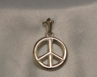 PEACE: Sterling Silver Pendant