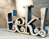 Wooden Halloween Sign for Decoration and Party Decor Eek Wooden Letters