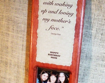 Personalized wood plaque photo -family 1