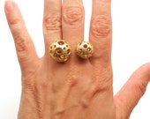Double Moonball Ring Large (Steel, Bronze or Gold)