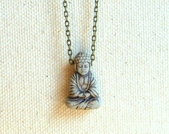 Buddha necklace spiritual jewelry buddhist jewelry yoga jewelry religious jewelry buddhism jewelry