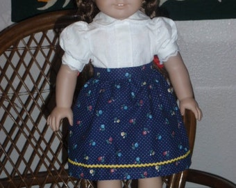 1940s Dirndl Style Skirt for American Girl Molly or Emily 18 inch doll