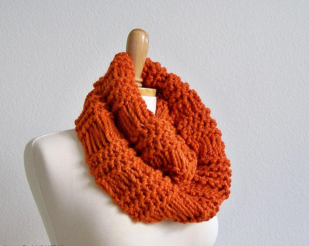 Bandana Cowl Knitting Pattern : Knitting PATTERN Knit Infinity Scarf Pattern Knit Cowl Scarf