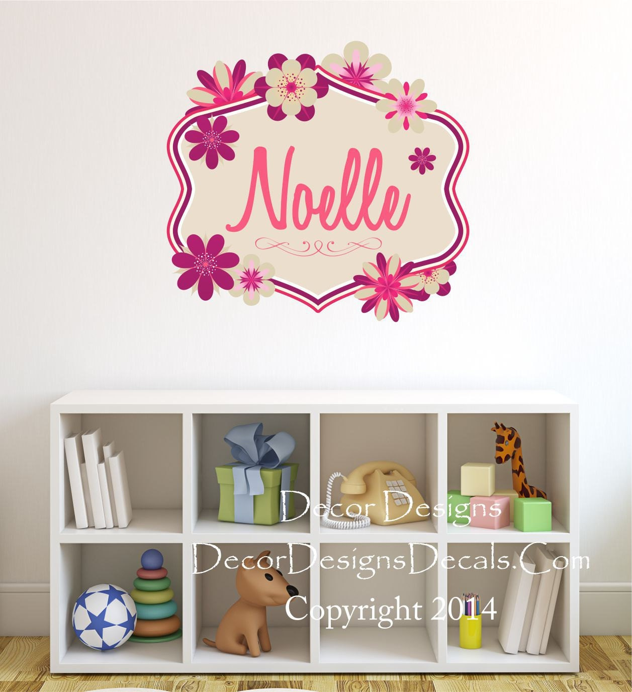 Flowers Name Wall Decal Name Wall Decal Dahlia Flowers