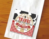 Cowboy Themed Personalized Thank You Favor Tags - two sizes available - Print at Home