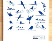 Birds on a Wire Ceramic Decals, Glass Decals or Enamel Decals