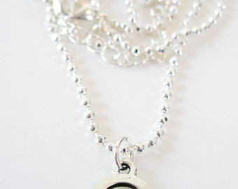 SILVER  CELTIC Knot Open Round  Knot IRISH Necklace