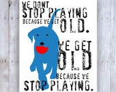 Labrador Retriever Art, Lab Art, Lab Print, Lab Poster, Labrador Retriever Gifts,Inspirational Quote, Inspirational Art, Dog Decor, Blue Dog